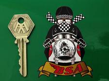 BSA CAFE RACER Helmet MOTORCYCLE STICKER 60's