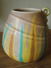 Vintage Antique Collectable Retro Single Handled Jug or Vase Yellow Green Tones