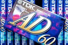 TDK AD 60 PREMIUM NORMAL POSITION TYPE I BLANK AUDIO CASSETTE - 1997