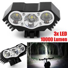 10000LM 3x XML T6 LED USB Fahrrad Kopf Licht Scheinwerfer Kopflampe Scheinwerfer