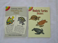 Dover Little Activity Books Tropical Fish & Realistic Sea Turtles Stickers