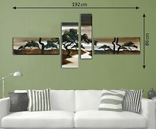 Framed Hand Painted XL Canvas Multi Split Panels Pictures Wall Art Landscape New