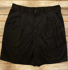 IZOD Mens Size 34 Black Pleated Golf Shorts