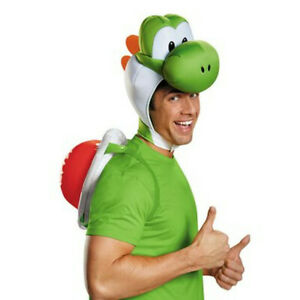 Yoshi Adult Costume Kit Super Mario Bros Nintendo Kids Shell Headpiece