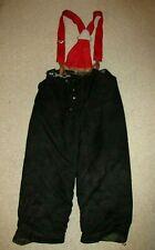 Vintage Black Janesville Firefighter's Lined Turnout Suspender Pants Large 38