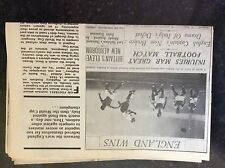 A2p ephemera 1970s article 1934 battle of highbury england italy