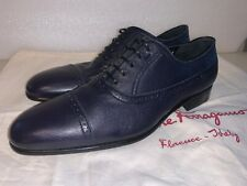 Salvatore Ferragamo Men's Shoes SIZE 8.5 E Navy Blue Retail $790