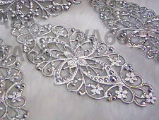 DIY Silver Filigree Lace Extension Chandelier Earrings Necklace Findings CK03
