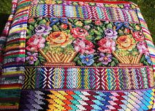Ethno Kissenbezug gewebt und bestickt Blumenkissen Guatemala Maya Indio Hippie