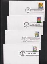 US FDC 2014 Winter Flowers 4 Unaddressed Uncacheted First Day Covers |