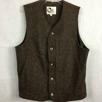 Allen Farm Sheep & Wool Co. Womens Brown Wool Vest Sz L New