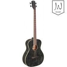 NEW JN Guitars YAK-BAS-E Full Size 4 String Acoustic Bass Guitar Dog Hair Black