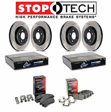 Honda Civic 2.0L Front and Rear StopTech Slotted Brake Rotors Ceramic Pads Kit