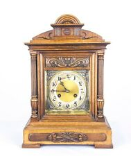 Antique Mantel Clock, Bracket Clock, Walnut Cased, German 1900, B739