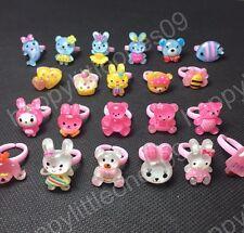 15x Girls Kids Glitter Rings Party Bag Fillers Party Favor Bulk Wholesale New
