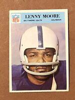 1966 Philadelphia Football Lenny Moore Card #21 NM HOF Baltimore Colts