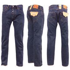 Levi's Uomo Jeans 501 taglio dritto 42 lunghezza 34 Stone Washed