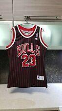 Vintage Champion Micheal Jordan Black / Red Chicago Bulls Jersey Size 40 -Medium