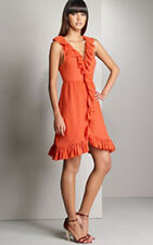 NEW $368 MARC JACOBS ORANGE SWISS DOT RUFFLE DRESS 12