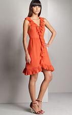 $368 MARC JACOBS ORANGE SWISS DOT RUFFLE DRESS NWT! 12, L