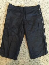 Women's Capri Pants Axcelerate Speedo Black Workout Activewear Sz Small Kd6