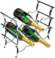Rta 12 Bottle Chrome Wine Rack Countertop Modular Stackable Wine Rack