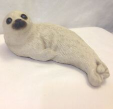 Sandicast Seal White Signed Sandra Brue Large Sea Lion 1981 Vintage