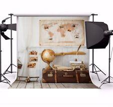 8x8ft Photography Backgrounds Study Cornor Globe Map Book Studio Photo Backdrops