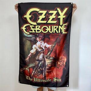 Ozzy Osbourne Banner The Ultimate Sin Tapestry Cover Flag Art Poster 3x5 ft