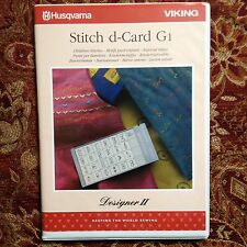 Husqvarna Viking Designer II 2 Embroidery Stitch d-Card G1 Children Stitches