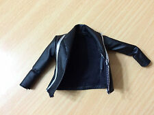 Barbie Style Doll Glam Luxe Fashion Faux Leather Black Jacket Silver Accents