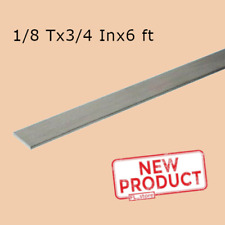 Stainless Steel Flat Bar Stock 18 X 34 X 6 Feet Rectangular 304 Mill Finish
