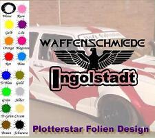 Waffenschmiede Ingolstadt nr3 JDM Sticker aufkleber oem PS Power like Shocker