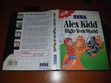 # Sega Master System-Alex Kidd: High-Tech World (cover dañado) #