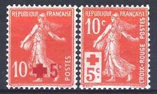 FRANCIA AÑO COMPLETO 1914 YVERT 146/147 , 2 SELLOS SEMBRADORA xx LUJO M885D