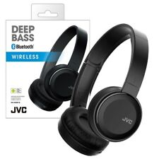 NEW JVC Deep Bass Bluetooth Wireless Headphones HA-S30BT-B 17hr battery life BLK
