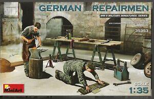 MiniArt 2nd Guerre Mondiale Allemand Repairmen, Figurines En 1/35 353 St