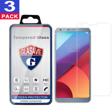(3 Pack) GLASAVE Tempered Glass Screen Protector Film Saver For LG G6