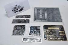 MACK NO G532 Data Plate Set Prime Mover  7 1/2T WW2
