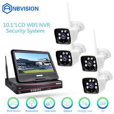 4CH 10.1'' LCD HD 720P Wireless WiFi IP Camera NET NVR CCTV Security System US