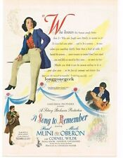 1944 A Song To Remember Merle Oberon Paul Muni Vtg Movie Print AD