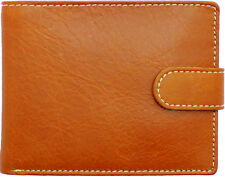 Topsum London Men's Luxury Coin Pocket Premium Genuine Leather Wallet #4021 TAN