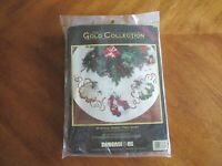 Dimensions Mystical Angel Tree Skirt Gold Collection Counted Cross Stitch Kit