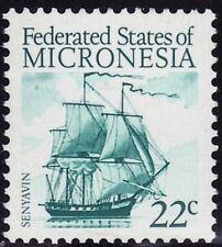 SELLOS TEMA BARCOS MICRONESIA 1985  1v.