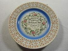 Keramikteller Fa. T+K, Bunter Umdruck, Teller bunt bemalt mit Spruch, Top Zustan