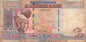 Guinea 5000 Francs 2006 P-41a