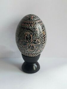 Russian lacquer egg hand painted