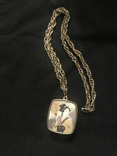 Vintage Sankyo Japanese Woman Music Box Pendant