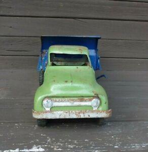 "Antique Toy Dump Truck Pressed Steel Tonka 13"""