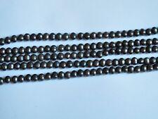 Freshwater pearl iridescent gray potato beads 6x7mm